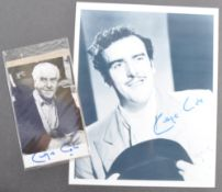 GEORGE COLE - MINDER - AUTOGRAPHED PHOTOGRAPHS
