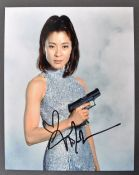 JAMES BOND MICHELLE YEOH AUTOGRAPHED PHOTOGRAPH