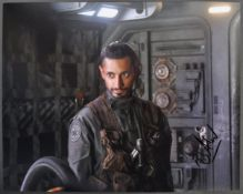 STAR WARS - RIZ AHMED - BODHI ROOK - SIGNED PHOTOG