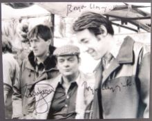 ONLY FOOLS & HORSES - DAVID JASON & ROGER LLOYD PACK SIGNED 8X10
