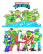 VINTAGE TEENAGE MUTANT NINJA TURTLES ADVERTISING DISPLAY SIGNS