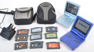 COLLECTION OF NINTENDO GAMEBOY CONSOLES AND GAMES