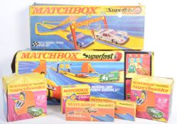 COLLECTION OF MATCHBOX SUPERFAST CAR RACING PLAYSETS