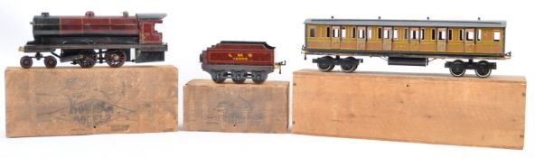RARE BOWMAN LIVE STEAM LOCO TENDER AND CARRIAGE SET