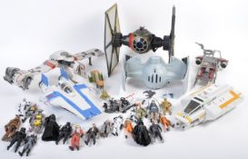 COLLECTION OF ASSORTED STAR WARS PLAYSETS AND ACTION FIGURES