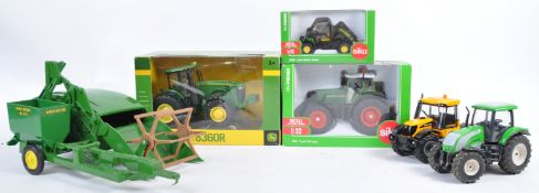 COLLECTION OF ASSORTED 1/32 SCALE DIECAST FARM VEHICLES