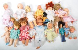 LARGE COLLECTION OF ASSORTED VINTAGE PLASTIC DOLLS