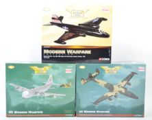 COLLECTION OF X3 CORGI AVIATION ARCHIVE DIECAST MODEL PLANES