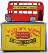 ORIGINAL MATCHBOX MOKO LESNEY 5A LONDON BUS