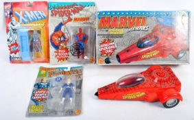 COLLECTION OF TOY BIZ ACTION FIGURES AND PLAYSETS