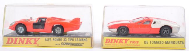 TWO ORIGINAL VINTAGE DINKY TOYS DIECAST MODEL CARS