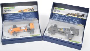 TWO HORNBY SCALEXTRIC ' LEGENDS ' SLOT RACING CARS