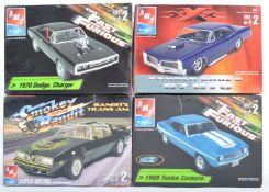 COLLECTION OF X4 MOVIE RELATED PLASTIC CAR MODEL KITS