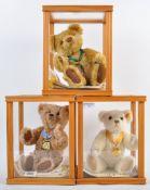 COLLECTION OF X3 STEIFF DANBURY MINT TEDDY BEARS