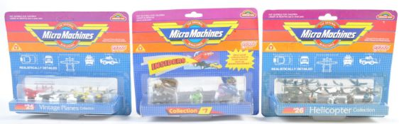 COLLECTION OF VINTAGE CARDED MICRO MACHINES MODELS
