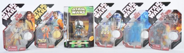COLLECTION OF HASBRO CARDED STAR WARS FIGURES