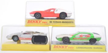 COLLECTION OF X3 ORIGINAL VINTAGE DINKY TOYS DIECAST MODEL CARS