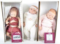 COLLECTION OF X3 ASHTON-DRAKE ' NEWBORN ' BABY DOLLS