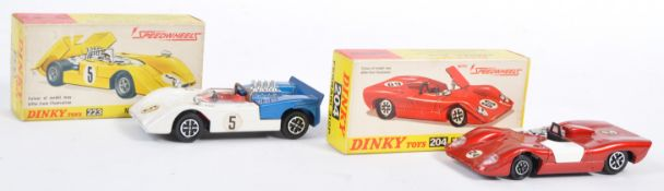 TWO ORIGINAL VINTAGE DINKY TOYS DIECAST MODEL CARS