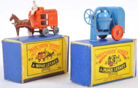 TWO ORIGINAL VINTAGE MOKO LESNEY BOXED MODELS