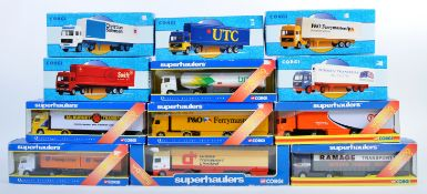 COLLECTION OF CORGI SUPERHAULERS DIECAST SCALE VEHICLES