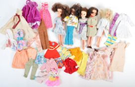 COLLECTION OF SINDY DOLLS AND CLOTHING
