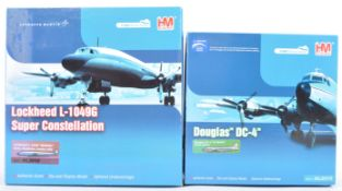 TWO HOBBY MASTER AIRLINER SERIES 1 / 200 SCALE MODEL AIRCRAFTS