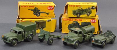COLLECTION OF VINTAGE DINKY TOYS MILITARY BOXED DIECAST MODELS