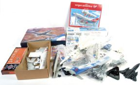 COLLECTION OF ASSORTED AIRCRAFT MODEL KITS