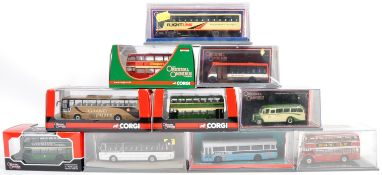 COLLECTION OF CORGI 1/76 DIECAST MODEL BUSES