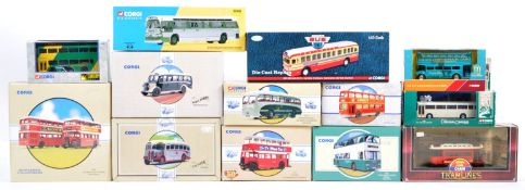 LARGE COLLECTION OF ASSORTED CORGI DIECAST MODEL BUSES