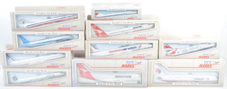COLLECTION OF X10 SKY MARKS ' AIRCRAFT OF THE WORLD ' SCALE MODELS