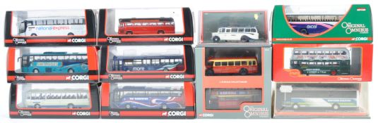 COLLECTION OF CORGI 1/76 SCALE DIECAST BUS MODELS