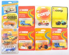 COLLECTION OF CORGI JUNIORS AND MATCHBOX CARDED DIECAST