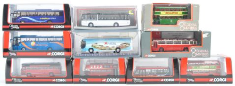 COLLECTION OF CORGI 1/76 SCALE DIECAST MODEL BUSES