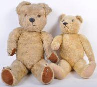 PAIR OF BRITISH ANTIQUE / VINTAGE TEDDY BEARS