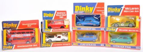 COLLECTION OF ORIGINAL VINTAGE DINKY TOYS DIECAST MODEL VEHICLES