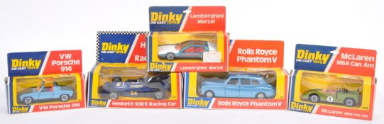 COLLECTION OF ORIGINAL VINTAGE DINKY TOYS DIECAST MODEL CARS