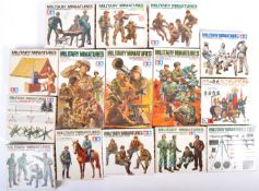 COLLECTION OF TAMIYA 1/35 SCALE PLASTIC FIGURE SETS