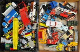 COLLECTION OF ASSORTED VINTAGE CORGI, DINKY & MATCHBOX DIECAST