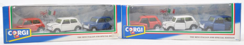 CORGI THE ITALIAN JOB DIECAST MINI COOPER SETS
