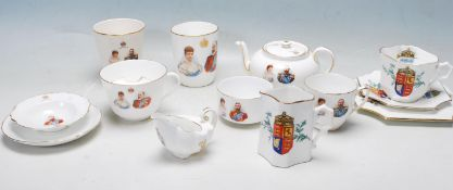 LARGE QUANTITY OF 20TH CENTURY ROYAL DOULTON COMMEMORATIVE BONE CHINA CERAMICS