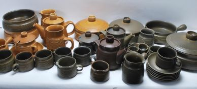 LARGE COLLECTION OF VINTAGE DENBY / SHERWOOD STONEWARE POTTERY
