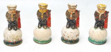 COLLECTION OF FOUR EARLY 20TH CENTURY MR DUNLOP ADVERTISING BELLS