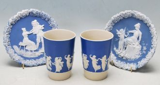 PAIR OF ANTIQUE EARLY 20TH CENTURY COPELAND SPODE DANCING HOURS BEAKERS