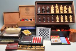 LARGE QUANTITY OF VINTAGE CHESS SETS AND GAME CARDS