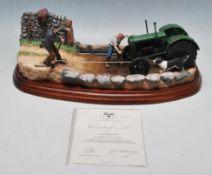 BORDER FINE ARTS - B0985 - LACKING HORSE POWER - TRACTOR STATUE