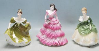 LATE 20TH CENTURY BONE CHINA COALPORT AND ROYAL DOULTON FIGURINES