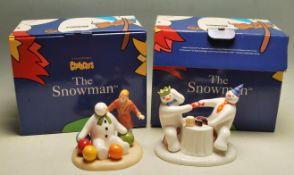 THE SNOWMAN - COALPORT - TWO BOXED FIGURES