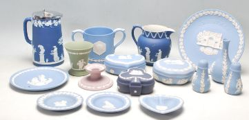 COLLECTION OF 20TH CENTURY WEDGWOOD JASPERWARE